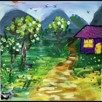 色彩风景画